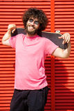 Man with skateboard Stock Photo