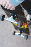 Man with skateboard Stock Photography