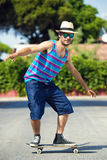 Man with skateboard Royalty Free Stock Photo