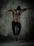 Man with a skateboard Stock Photo