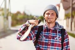 man skateboarden fotografering för bildbyråer
