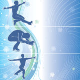 Man skaters in abstract background.Three horizonta Stock Photography