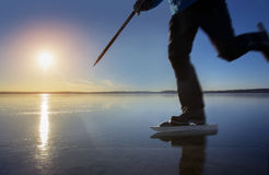 Man skating  in sweden Stock Images