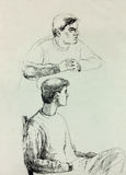 Man sketch Stock Images