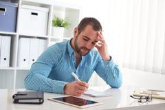 Man sketching web design Stock Image