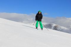 Man on the ski Stock Image