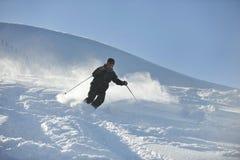 Man ski free ride Stock Photo