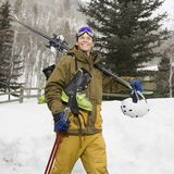 Man with ski gear. Stock Images