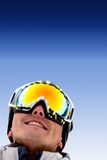 Man with ski goggles Royalty Free Stock Photos