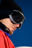 Man with ski goggles Stock Photography