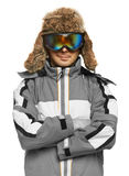 Man in ski goggles and sportswear royalty free stock photography