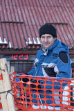 Man in ski jacket. Young man in ski jacket the wait Royalty Free Stock Photo