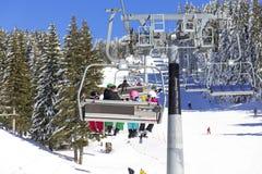 Man on the ski lift Royalty Free Stock Photography