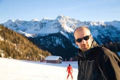 Man in ski resort Stock Photo
