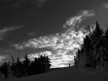 Man on ski slope Royalty Free Stock Images