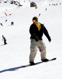 Man on ski slopes of Pradollano ski resort in Spain Royalty Free Stock Images