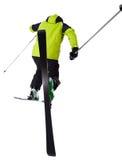 Man skier freestyler jumping Royalty Free Stock Photo