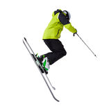 Man skier freestyler jumping Royalty Free Stock Photo