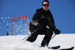Man skiing Stock Photography