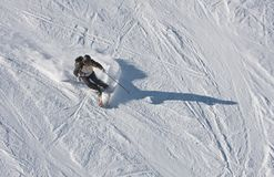 The man is skiing Stock Image