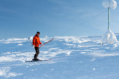 Man skiing Royalty Free Stock Image