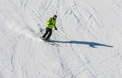 A man is skiing Stock Photography