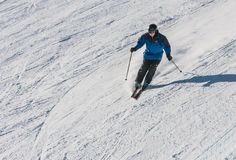 A man is skiing Royalty Free Stock Photography