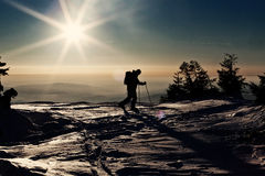 Man skiing on slope Royalty Free Stock Photography