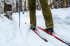 Man skiing Stock Photography
