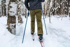 Man skiing Royalty Free Stock Images