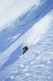 Man Skiing On Steep Slope Royalty Free Stock Images