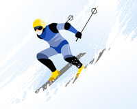 Man skiing Royalty Free Stock Image