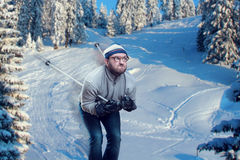 Man skiing Stock Images