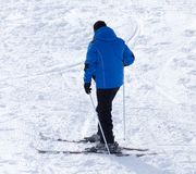 Man skiing in winter Royalty Free Stock Images