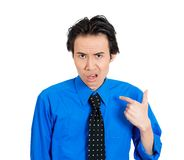 Man sking: you mean me? Royalty Free Stock Images