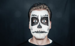 Man with skull art Stock Images