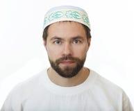 Man in the skullcap. Man with a beard in the skullcap Stock Photo