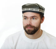 Man in the skullcap. Stock Photo