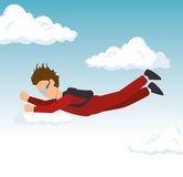Man sky diving extreme sport. Vector illustration eps 10 vector illustration