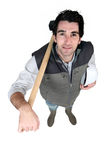 Man with a sledgehammer Royalty Free Stock Photography