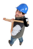 Man with a sledgehammer Stock Photo