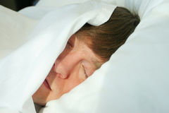 Man sleeping Royalty Free Stock Image