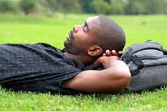 Man sleeping Royalty Free Stock Photos