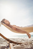 Man sleeping in hammock Royalty Free Stock Photography