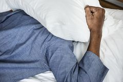 A man with sleeping issue Stock Photography