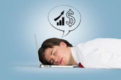 Man sleeping Royalty Free Stock Images