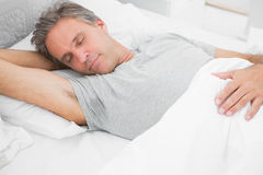 Man sleeping peacefully Royalty Free Stock Photo