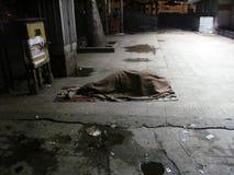 Man sleeping on the streets of Kolkata Royalty Free Stock Photography