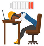 Man sleeping at workplace Royalty Free Stock Photography