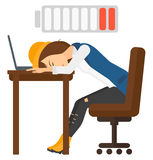 Man sleeping at workplace Royalty Free Stock Photo
